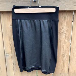 Wilfred Free Vegan Leather & Ponte Bodycon Skirt